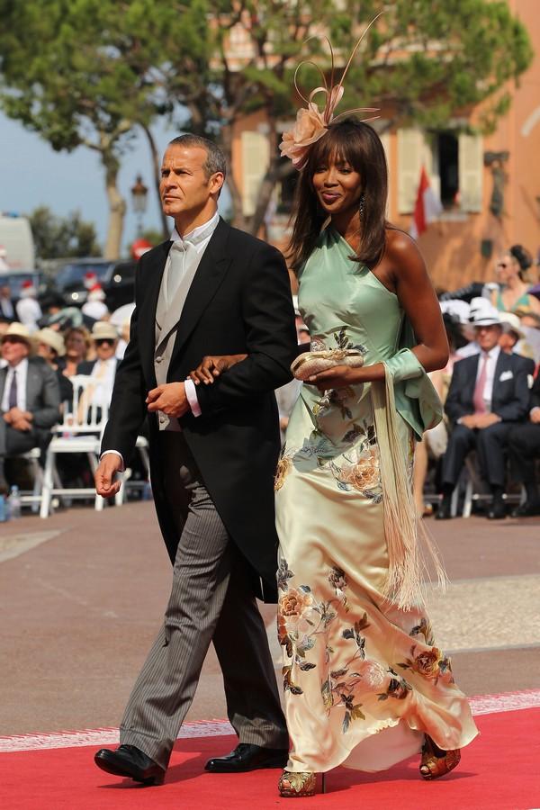 Владислав Доронин и Наоми Кэмпбелл на свадьбе князя Монако ІІ и Шарлин Уиттсток. Фото: Sean Gallup/Getty Images