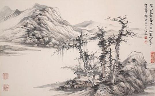Гори і ріки (Шань шуй). Художник Цзен Хоус. Традиційний живопис Китаю.