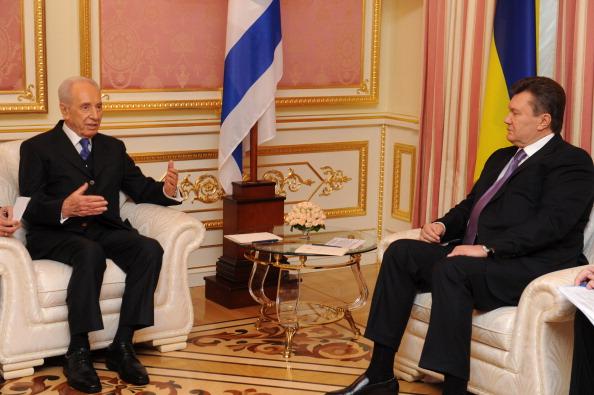Встреча Виктора Януковича с Президентом Израиля Шимоном Пересом