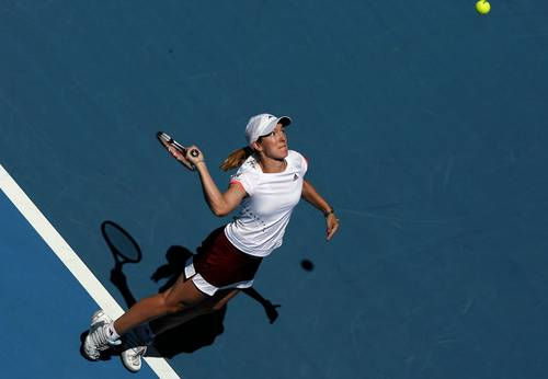 Жюстін Анен (Бельгія) (Justine Henin of Belgium) під час відкритого чемпіонату Австралії з тенісу. Фото: Clive Brunskill/Getty Images