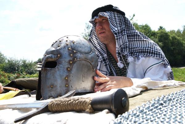 Лицарська зброя на святі Дня коваля в Пирогові. Фото: Володимир Бородін/Тhe Epoch Times