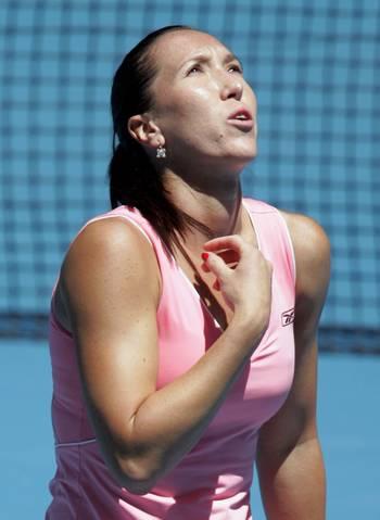 Олена Янковіч (Сербія) (Jelena Jankovic of Serbia) під час відкритого чемпіонату Австралії з тенісу. Фото: Sandra Mu/Getty Images