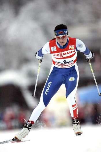 У ході багатоденного лижного змагання 'Тур де скі' в Нове Мєсто (Чехія). Фото: Agence Zoom/Getty Images