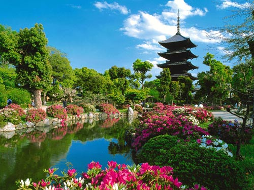 Храма Toji в Киото, Япония.
