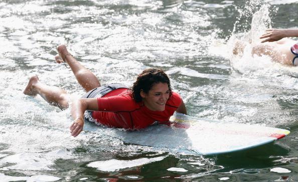 Спринтерські перегони на серфинговій дошці на водному фестивалі Stranavigli в Мілані. Фото: Vittorio Zunino Celotto/Getty Images