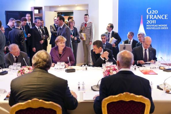 Первое заседание шестого саммита «большой двадцатки» проходит в формате рабочего завтрака. Фото: Kerim Okten-Pool/Getty Images