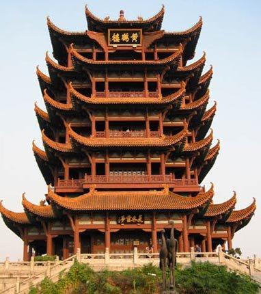 Башня Жёлтого журавля (Хуанхэлоу). Фото с tupian.hudong.com