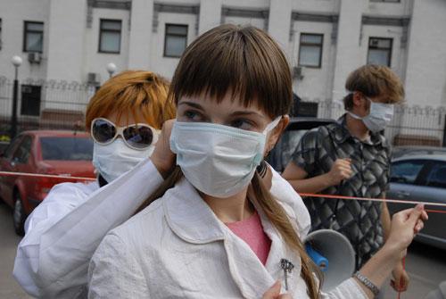Возле посольства РФ в Украине в понедельник 3 сентября прошла акция «карантин». Фото: Владимир Бородин/Великая Эпоха