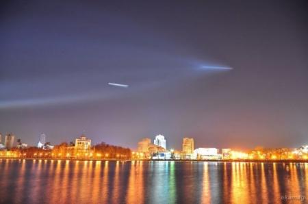 Ракета-носій 'Союз' стартувала з космодрому Байконур. Фото з блогу Ekamag