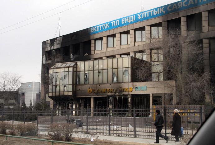 Беспорядки на западе Казахстана. Фото: gazeta.ru