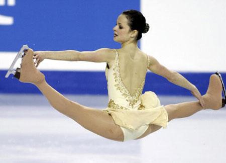 Чемпионат мира в Калгаре (Канада) в 2006 г. Она завоевала «бронзу». Фото: DAVE BUSTON/AFP/Getty Images