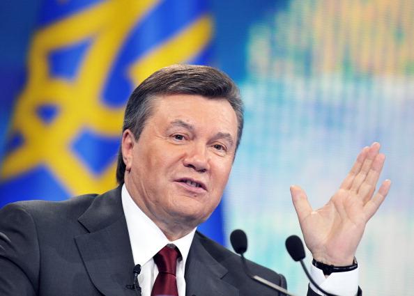 Президент Украины Виктор Янукович. Фото: SERGEI SUPINSKY/AFP/Getty Images