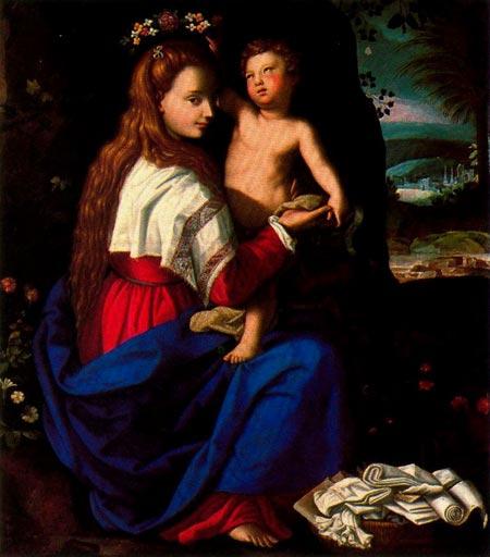 Алессандро Аллорі. Мадонна з Немовлям. Ермітаж, Санкт-Петербург, Росія. Зображення: Ciudad de la Pintura