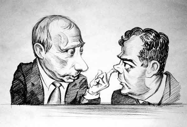 На Камчатской выставке запретили карикатуры на Путина и Медведева. Фото: nr2.ru