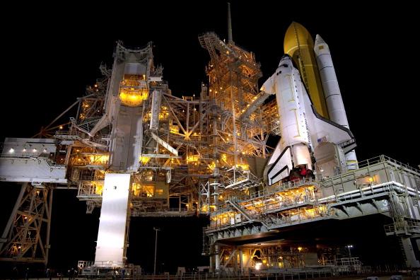 Шаттл «Атлантіс» на стартовому майданчику 39А космодрому Космічного центру ім. Кеннеді. Мис Канаверал, штат Флорида. Фото: NASA via Getty Images