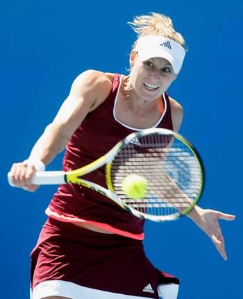 Моніка Адамчак (Австралія) під час стартового матчу в Австралії. Фото: Quinn Rooney/Getty Images
