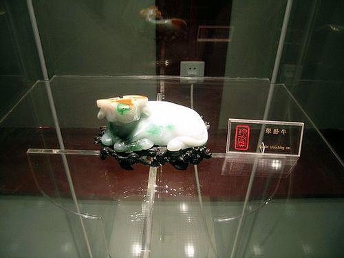 Украшение из берилла «лежащая корова». Фото с secretchina.com