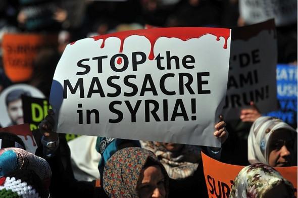 Акція протесту в Сирії