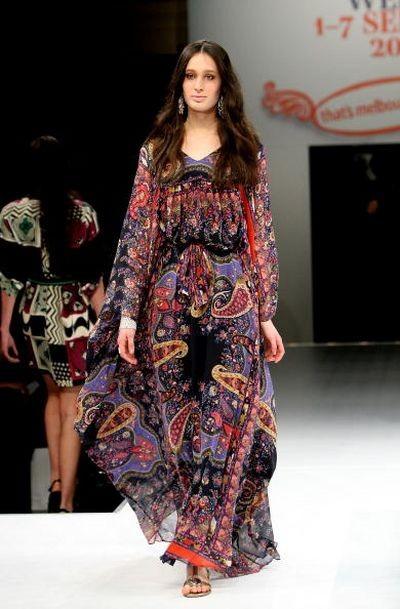 Жіноча колекція від Nevenka на тижні моди в Мельбурні. Фото: Matt Jelonek/Getty Images