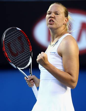 Канепі Кайя (Естонія) (Kaia Kanepi of Estonia) під час відкритого чемпіонату Австралії з тенісу. Фото: Mark Dadswell/Getty Images