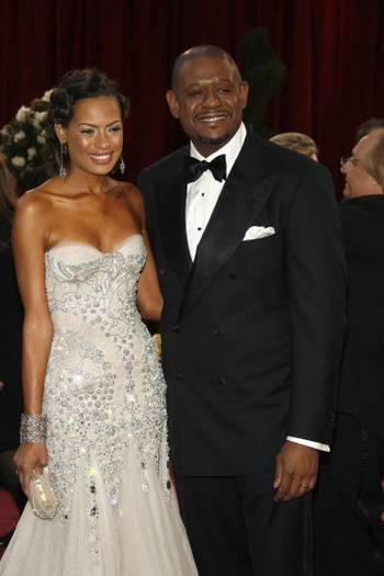 Актер Форест Уитакер (Forest Whitaker) и его супруга бывшая модель Кейша Уитакер посетили церемонию вручения Премии 'Оскар' в Голливуде Фото: Vince Bucci/Getty Images