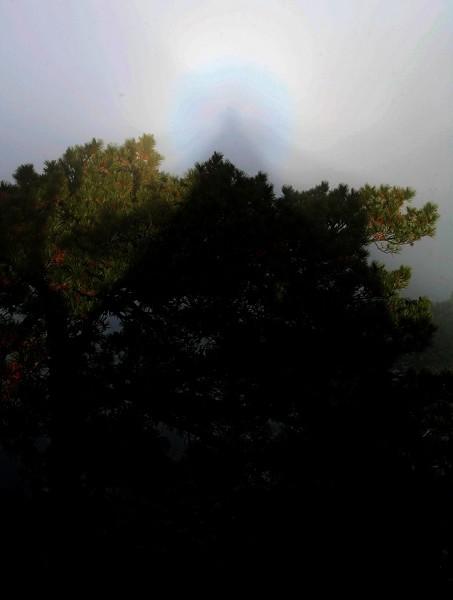 19 серпня на горі Чанбайшань туристів уразило подібне явище «сяйва Будди». Фото: Велика Епоха