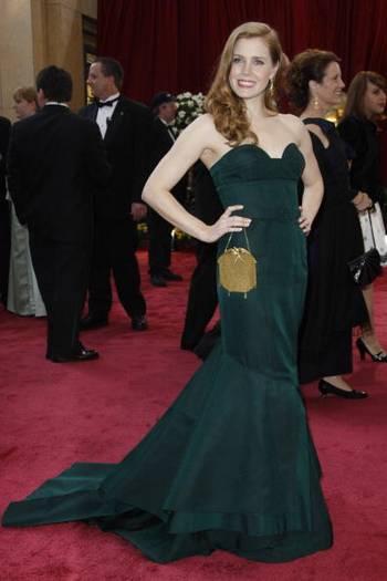 Актриса Эми Адамс (Amy Adams) посетила церемонию вручения Премии 'Оскар' в Голливуде Фото: Valerie Macon/AFP/Getty Images