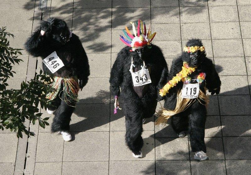 «Большой забег горилл» в Лондоне. Фото: Miles Willis/Getty Images