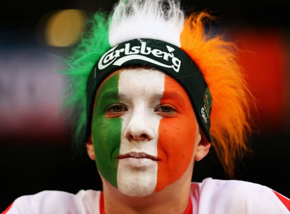 Ирландский болельщик на матче Италии против Ирландии 18 июня в Познани. Фото: Clive Mason/Getty Images