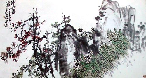 Божественне щастя і довголіття. Художник У Чаншо. 1917 р. Фото із secretchina.com