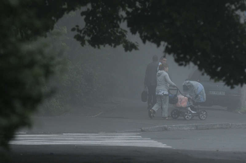 Густой туман окутал Киев. Фото: Владимир Бородин/EpochTimes.com.ua
