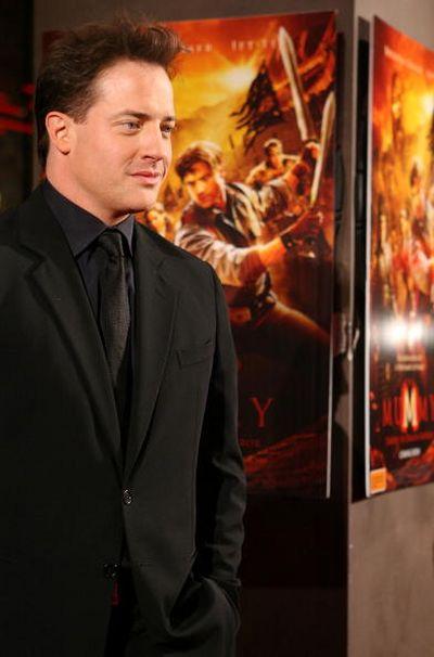 Актёр Брендан Фрейзер (Brendan Fraser) посетил премьеру фильма 'Мумия 3: Гробница Императора-Дракона', которая прошла 28 августа в Мельбурне. Фото: Robert Prezioso/Getty Images