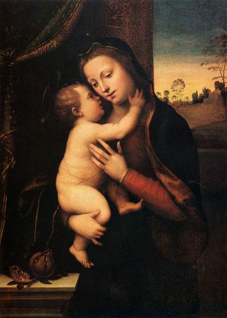 Маріотто Альбертінеллі. Мадонна з Немовлям. Приватна колекція. Зображення: Art Renewal Center