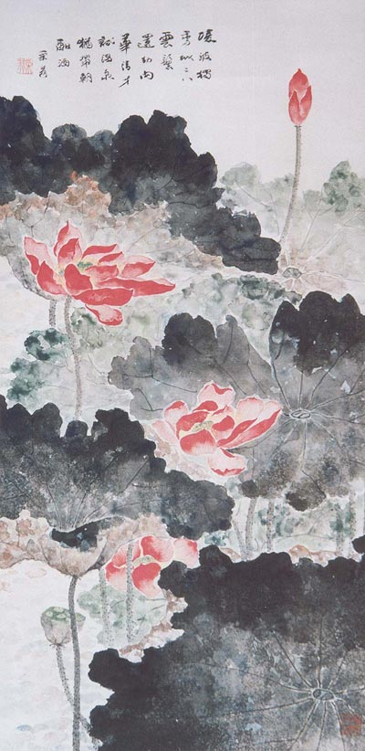 Традиційний живопис Китаю. Одна квітка лотоса - один світ. Чжан Цуйїн
