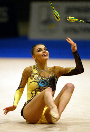 На чемпионате Европы в Киеве (Украина),  2004 г. Фото: SERGEI SUPINSKY/AFP/Getty Images
