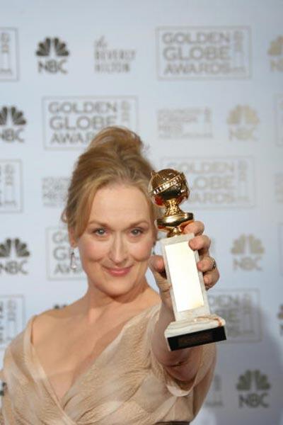 Актриса Меріл Стріп (Meryl Streep) отримала 'Золотий глобус' за кращу жіночу роль у комедії 'Диявол носить Prada' Фото: Bob Long/HFPA via Getty Images