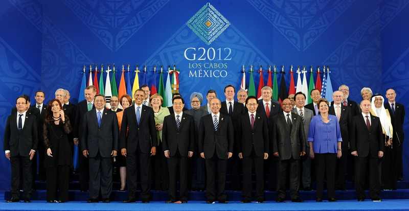 Лос-Кабос, Мексика, 18 июня. Главы мировых держав прибыли на саммит G20 для обсуждения будущего Еврозоны, выборов в Греции и ситуации в Сирии. Фото: JEWEL SAMAD/AFP/Getty Images