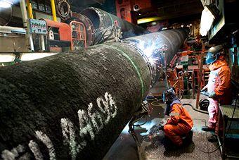 Строительство газового трубопровода «Северный поток» в Западную Европу. Фото: Getty Images