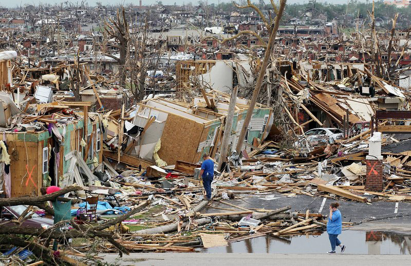 Разрушенный торнадо Джоплин, штат Миссури. Фото: Mario Tama/Getty Images
