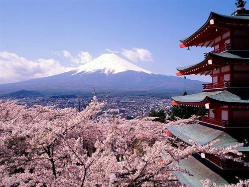 Горы Фудзиямы, Япония.
