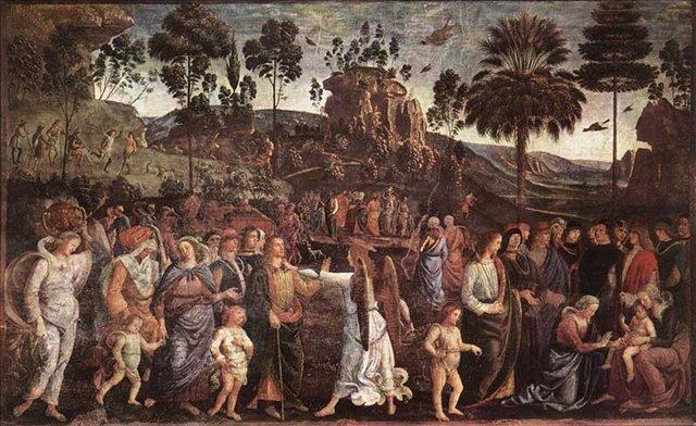 Вихід Мойсея з Єгипту. Мойсей на картині італійського художника П'єтро Перуджино. Фото з сайту liveinternet.ru