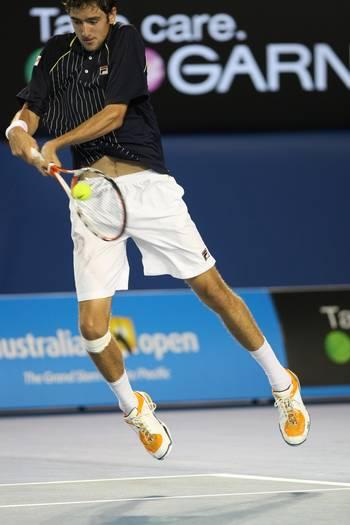 Марін Чиліч (Хорватія) (Croatian tennis player Marin Cilic) під час Відкритого чемпіонату Австралії з тенісу в Мельбурні. Фото: TORSTEN BLACKWOOD/AFP/Getty Images