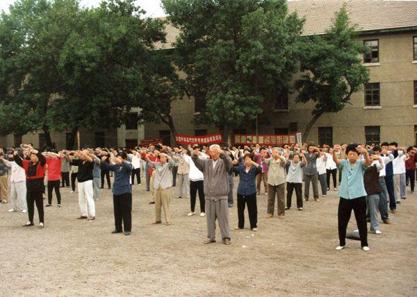 Город Цицикар провинции Хэйлунцзян. Коллективная практика последователей Фалуньгун. Фото с minghui.org