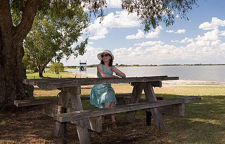 За моєю спиною - власне, озеро Boga. Фото: Сергій Ханцис