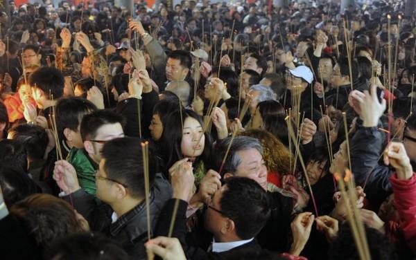 За китайським календарем 2011 - рік Кролика. Тайбей. Китайська Республіка (Тайвань). Фото: SAM YEH/AFP/Getty Images