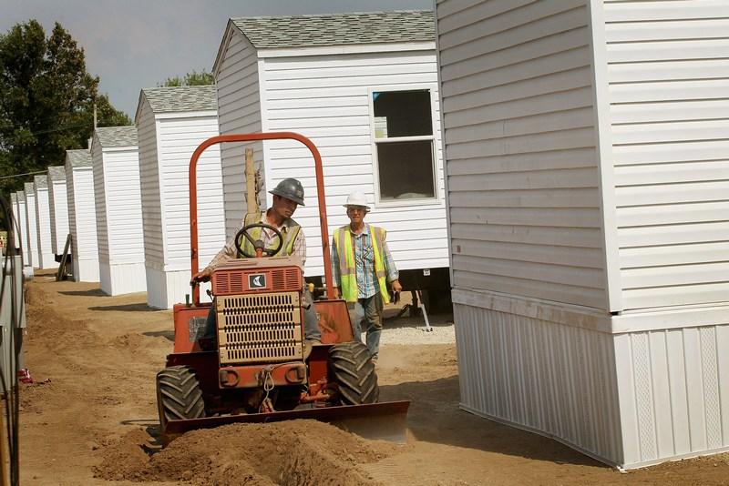 Временное жилье для оставшихся без крова жителей Джоплина. Фото: Scott Olson/Getty Images