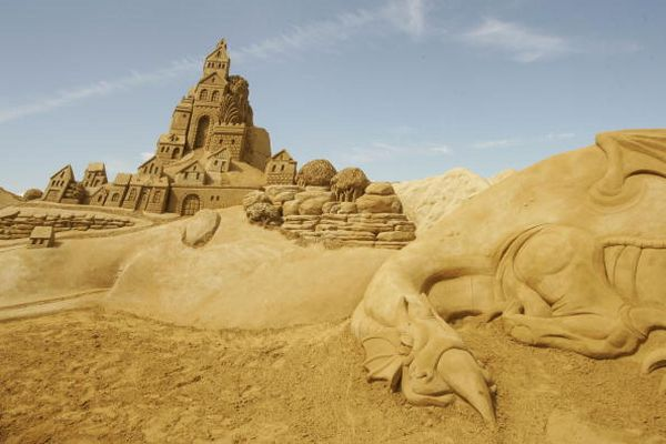 Фестиваль пісочних скульптур у Бельгії. Фото: Mark Renders/Getty Images
