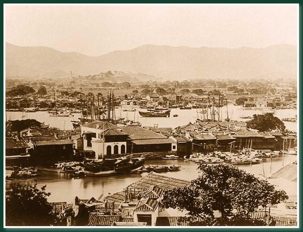 Острів Чжунчжоу на річці Міньцзян. Місто Фучжоу за часів китайської династії Цін. Фото: Теодор Джонс
