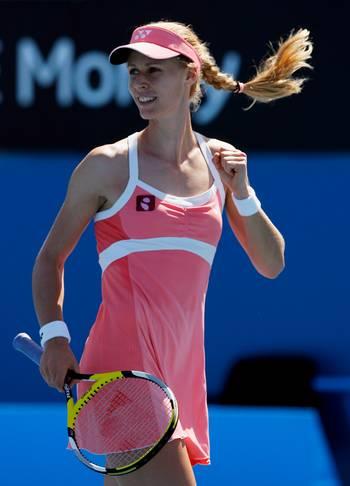 Олена Дементьєва (Росія) (Elena Dementieva of Russia) під час відкритого чемпіонату Австралії з тенісу. Фото: Cameron Spencer/Getty Images