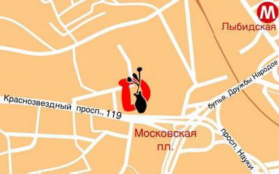Карта проїзду
